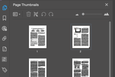 Page Thumbnails panel shows all pages of the document.